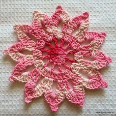 Flor em crochê para cortina passo a passo