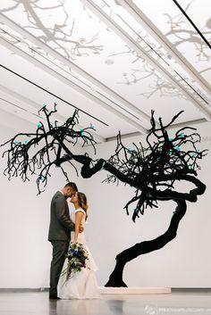 Phoenix Art Museum-Courtesy of @alyssancampbell -Katz Wing #Weddinginspiration #phxart