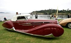 1939 Delahaye Type 165 Cabriolet. This particular vehicle was created for the 1939 New York World's Fair.