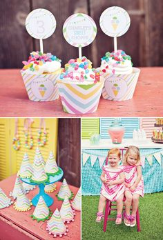 Creative and colorful sweet shop birthday party.