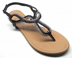 9cf7ce05444298 Women s Metallic Braided Slingback Gladiator T Strap Sandals  gt  gt  gt   Read more