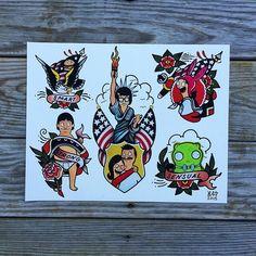 Tina tattoo flash Bobs Burgers