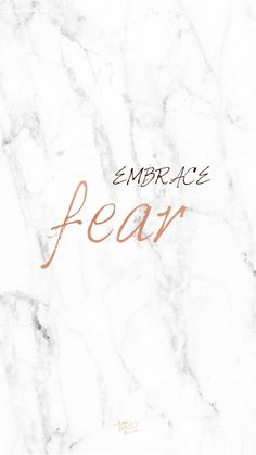 New phone background: Embrace times when you are fearful; choose to move forward with God and not let fear keep you standing still.