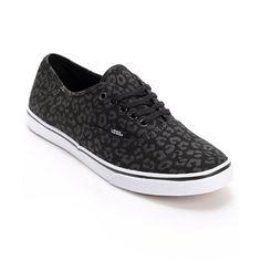ba95c1e0116354 Vans Authentic Lo Pro Black Leopard Print Shoes