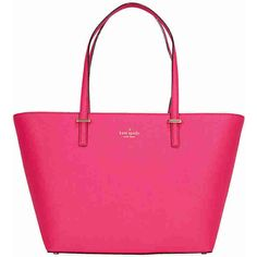 Kate Spade Cedar Street Small Harmony Tote - Pink Confetti ($180) ❤ liked on Polyvore featuring bags, handbags, tote bags, leather tote purse, pink leather tote, handbags totes, pink tote and pink leather handbags