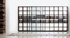Estantería moderna / en madera / de Piero Lissoni SYSTEM   Porro