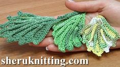 How To Crochet 3D Leaf Tutorial 11