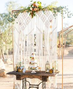Does it get any more Joshua Tree than macrame and succulents? This amazing indie elopement is on the blog today!  Follow @heyweddinglady and use #creativelywed to be featured!  Photography: @ginapurcell_photography  Venue: @Tumbleweedsanctuary  Creative Director: @Jessicaschmucklephotography  Host: @styledshootsacrossamerica   Day of Assistant: @katherineelainephotography  Catering: @thenaturalsisterscafe  Florist: @ks_floral_concepts  Styling/Rentals: @touchedbytime  Cake: @mirandas_sweet_treat
