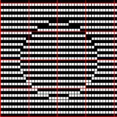 Optical illusion Wayuu Mochila pattern
