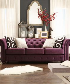Knightsbridge Tufted Scroll Arm Chesterfield Sofa by iNSPIRE Q Artisan (Purple Linen Sofa) (Fabric) Decor, Love Seat, Room, Linen Sofa, Tufted Sofa, Home Decor, Deep Sofa, Furniture, Sofa