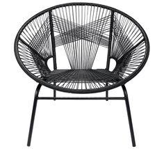 Ce fauteuil de jardin Tulum fil noir est la star incontournable de votre  jardin cet été 49b1386c19ae