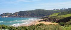Both beaches of Xivares in Asturias, Spain. Wonderful landscape, there is a footpath starting from the first one and surrounding them both, uncovering for you the splendid coastline of Carreño.