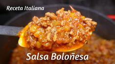 Salsa Boloñesa / RECETA ITALIANA / Rica y fácil de hacer   Baked Potato, Potatoes, Chicken, Meat, Baking, Ethnic Recipes, Youtube, Food, Pasta Sauces