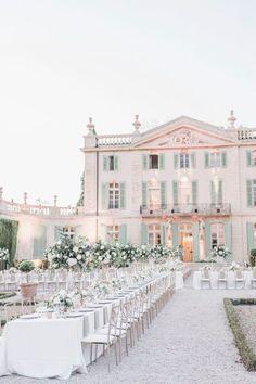 Wedding Goals, Dream Wedding, Wedding Set Up, Wedding Reception, Wedding Flowers, Wedding Venue Inspiration, Wedding Ideas, French Chateau Wedding Inspiration, Private Estate Wedding