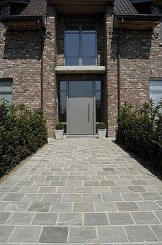 Kandla Grey Front Walkway, Backyard, Patio, Pathways, Garden Inspiration, Terrace, Sweet Home, Home And Garden, House Design