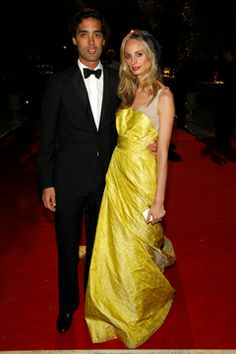 Socialites Lauren and Andres Santo Domingo on the red carpet #AndresSantoDomingo #LaurenSantoDomingo #redcarpet