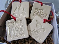 I love the idea of using these ornaments as gift tags