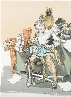 Two plates, from Shakespeare's Room (Rosenthal 237) By Paula Rego ,2006