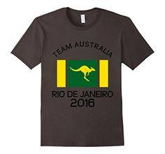 #AUSTRALIA Team 2016 Brazil T-Shirt WITH Kangaroo #Olympics AUSSIE EX-PATS. Olympic Games SUMMER. AUSTALIAN Mens and Womens athletic teams and show your country pride! roo outback wallaby archery badminton basketball beach volleyball boxing canoe kayak cycling (track, road, mountain, BMX) diving equestrian (dressage, jumping and eventing) fencing field hockey golf gymnastics handball judo modern pentathlon rowing rugby sailing shooting soccer / football swimming