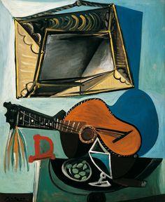 Pablo Picasso | Stillleben mit Gitarre - Still Life with Guitar | 1942 | © Succession Picasso/ Bildrecht, Wien 2015 | Albertina, Wien - Sammlung Batliner #MonettoPicasso #MonetbisPicasso