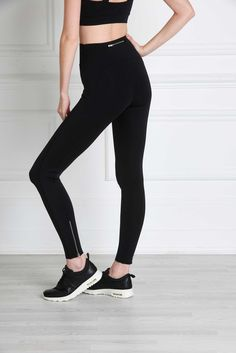 Giselle Leggings -From the studio to the streets, the Giselle Leggings look luscious from every angle. A singular piece of strong, firm material bands across the stomach, while bonded piping detail and silky soft, non-toxic material hide any unsightly lines of the female form. With high quality zippers on the ankles and a high waistline designed to flatten the stomach, these leggings are nothing shy of a miracle.