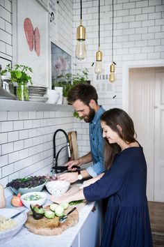 We're peeking into the home of David Frenkiel and Luise Vindahl, the couple behind the wildly popular Green Kitchen Stories blog.