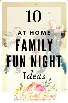 A unique list of 10 inexpensive (mostly free) at home family fun night ideas to gather together and make some new memories. Family Theme, Family Fun Night, Family Games, Family Activities, Family Life, Bonding Activities, Time Activities, Educational Activities, Things To Do At Home