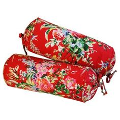 Check out this item at One Kings Lane! Ralph Lauren Floral Bolster Pillows, Pr