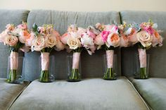 Bridesmaid flowers.