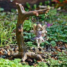 Fairy Homes and Gardens - Miniature Garden Fairy - Tree Swing Fairy, $9.99 (https://www.fairyhomesandgardens.com/miniature-garden-fairy-tree-swing-fairy/)