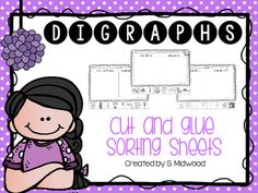 Do you need digraph worksheets to reinforce the sorting of digraphs beginning and ending sounds?  Look no further!  Here are 19 variations of digraph sorts using pictures!  Sorts are listed below.1. Beginning and ending sound of CH.2. Between pictures that have the PH sound and ones that do not.3.