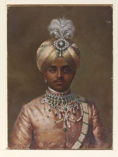 Image of maharaja krishna raja wadiyar iv of mysore, by k. mysore, india, 1906 by V&A Images Vintage India, African American History, British History, Turbans, King Of India, Costume Ethnique, Kings & Queens, 3d Foto, Royal Indian