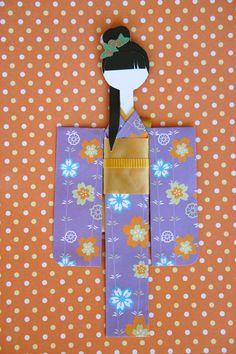 Mikano Yuri: Kaoru in Lavender Floral Kimono