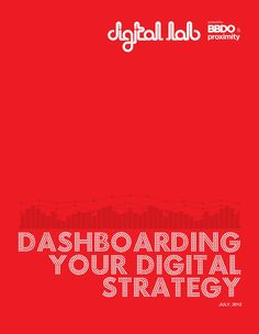 Dashboarding your Digital Strategy ?   Here is how I think about it: A Dynamic Brand Value Board !