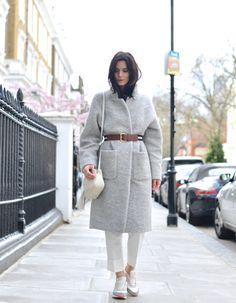 The Northern Light, fashion blogger, blogger, Air Max, coat, belt, grey