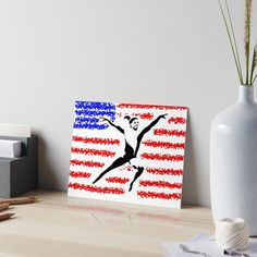 Show your love for America's gymnastics sweetheart and Olympian. Grab some items with this unique, original artwork from my Redbubble shop. Who better to represent the USA than Simone Biles! Watercolor Texture, Watercolor Paper, Simone Biles, Flag Art, Affordable Wall Art, Velcro Dots, Usa Flag, Thought Provoking, Art Boards