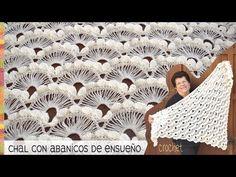 Punto abanicos de ensueño tejido a crochet / Tejiendo Perú - YouTube