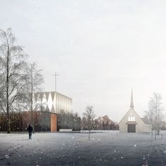 Valer Church [Competition Entry]  |  Duggan Morris Architects Location: Valer, Norway