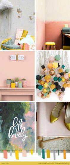 Today's Moodboard (Cath In The City) Palettes Color, Blush Color Palette, Colour Schemes, Color Trends, Blog Design, Layout Design, Design Color, Pattern Design, Design Ideas