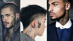 Face Tattoos for Men: Face Tattoo's trend is increasing to the next level. If you are looking to get face tattoo then we can help you with that. Here you will see some great tattoos for the face which men can try. Face Tattoos For Men, Best Tattoos For Women, Boy Tattoos, Music Tattoos, Great Tattoos, Couple Tattoos, Sleeve Tattoos, Tattoos For Guys, Reading Tattoo