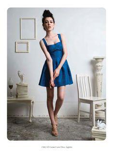 blue mini - rehearsal dinner dress