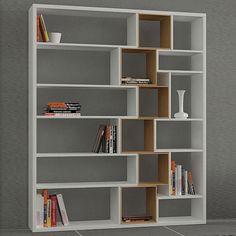 Kitaplık - Roscoe Kitaplık Beyaz Ceviz
