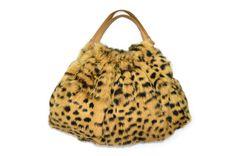 vintage leopard print fur purse / real by BreesVintageRevivals, $78.00