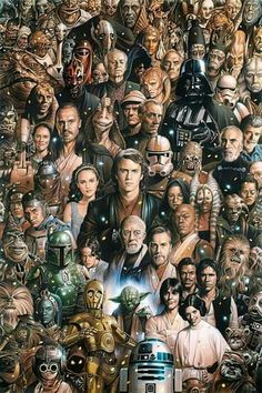 Love this so much.....except for Jar-Jar Binks. Lol Star Wars Videos, Star Wars Cast, Star Wars Charaktere, Star Wars Padme, 8 Bit, Lightsaber, Happy Weekend, Happy Friday, Happy Saturday