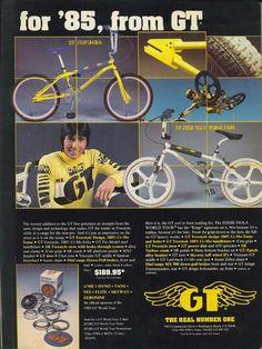 GT vintage ad 1985 BMX