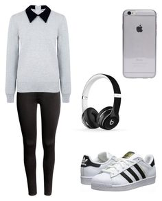 """""""Untitled #80"""" by mariana-martins-ii on Polyvore featuring H&M, Edit, Beats by Dr. Dre and adidas Originals"""