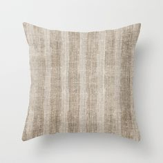 Striped burlap (Hessian series 3 of 3) Throw Pillow by John Medbury (LAZY J Studios) - $20.00