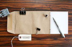 Handmade Mini Notebook: Envelope Pocket Travel Scrapbook Memo Pad Jotter *Inspiration*