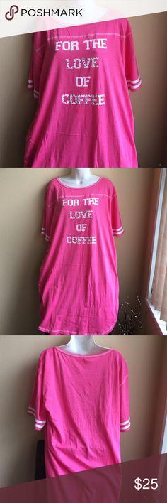 """Cute plus size nightshirt Brand new with tags plus size nightshirt """" For the love of coffee"""" . 100% cotton . Intimates & Sleepwear Pajamas"""