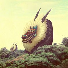 kukúmono by - bakea - (A gallery of monsters and other creatures integrated into real-life photos:))